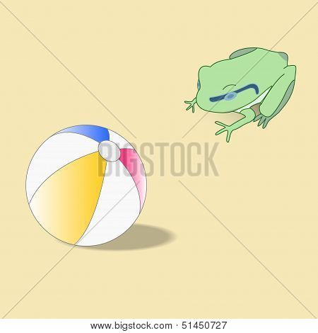 Abstract Vector Frog And Ball.