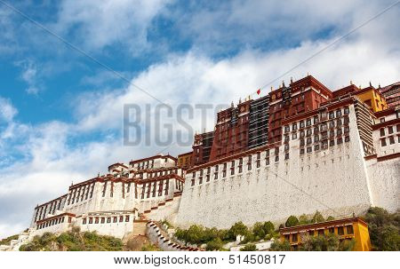 The Potala Palace In The Morning Sun