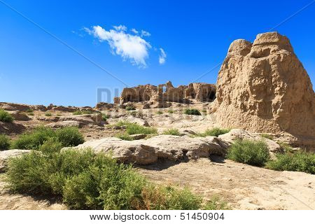 The Jiaohe Ruins In Turpan