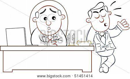 Boss Man And Complaining Employee