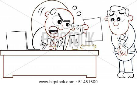 Boss Man Shouting At Employee