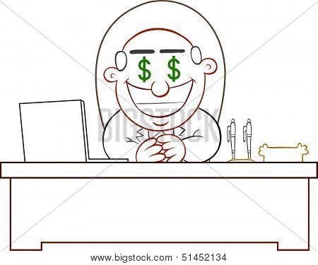 Boss Man Greedy With Money Eyes