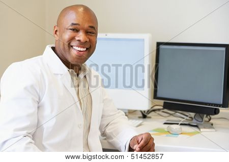 Portrait Of Male Obstetrician In Hospital