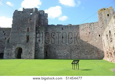 Inside Tantallon Castle