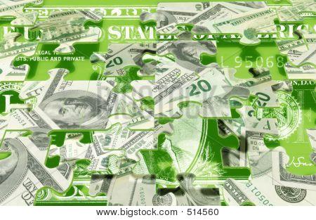 Bargeld-Puzzle-Konzept
