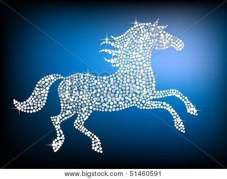 Silver Gem Horse