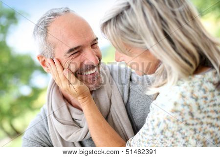 Portrait of sweet 50-year-old couple