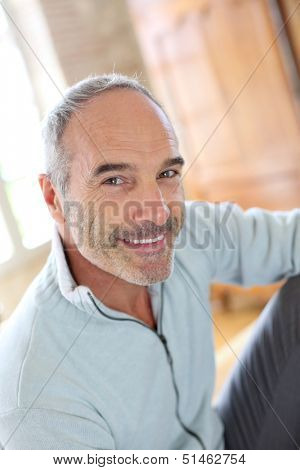 Portrait of 50-year-old attractive man