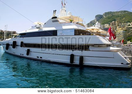 Luxurious yachts in port of Monaco