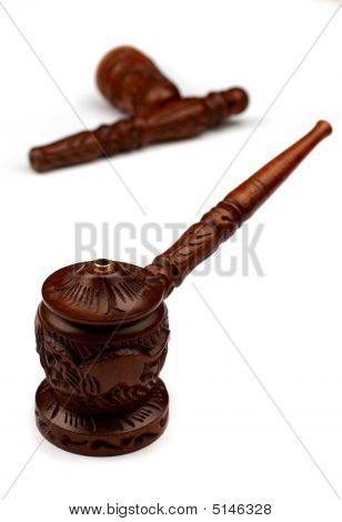 wood shaman pipe