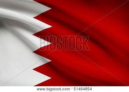 Series Of Ruffled Flags. Bahrain.