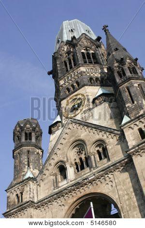 Memorial Church At The Breitscheidplatz In Berlin