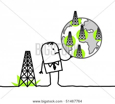 businessman & shale gas sites