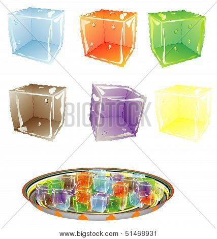 Colored Ice Cube