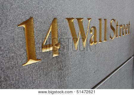 Wall Street Golden Letters