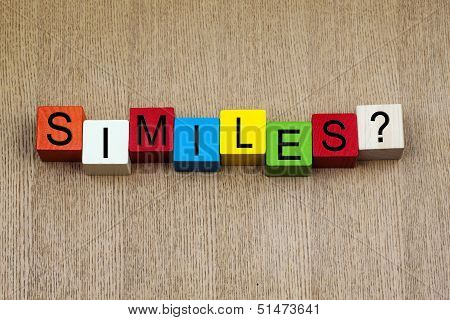 Similes - Education  Sign
