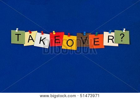 Takeover - Business Sign