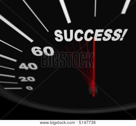 Racing Toward Success - Speedometer