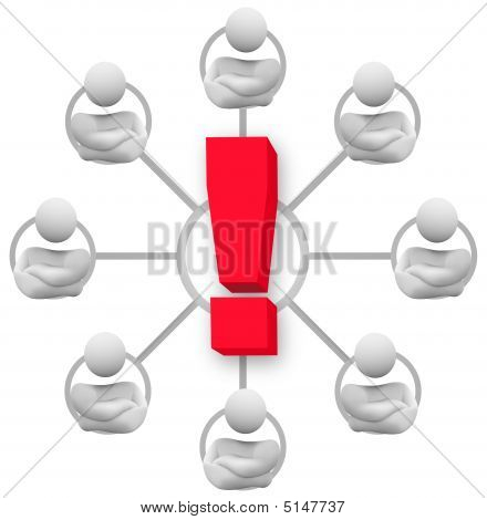 Angry Group Of People - Exclamation Point