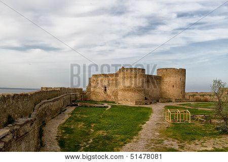 Old Fortress In Town Bilhorod-dnistrovski Odessa Region.