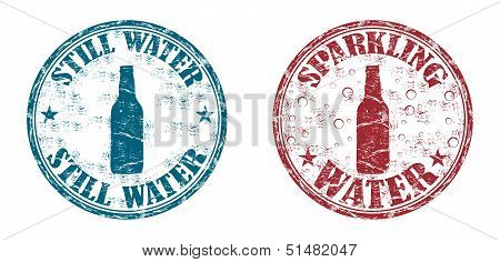 Water rubber stamps