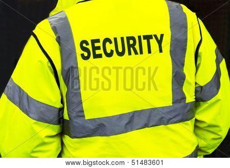 Security jacket closeup
