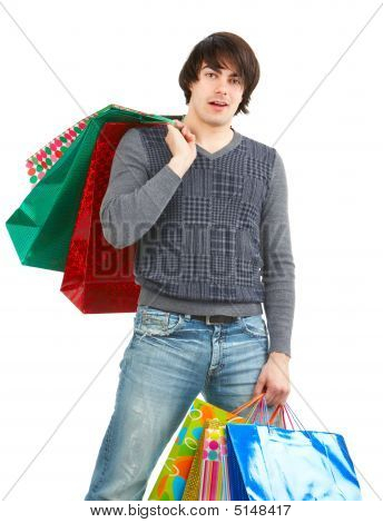 Happy Shopping Man