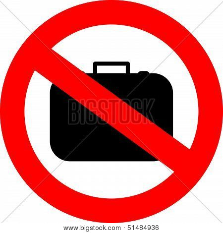 No hand baggage vector sign