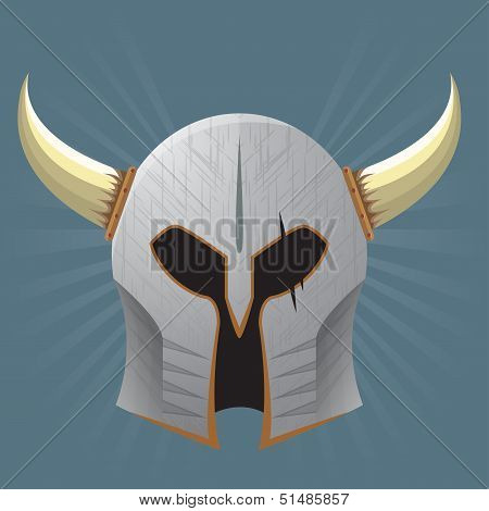 Silver Warrior Helmet