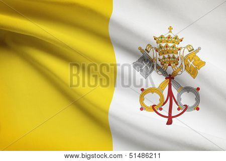 Series Of Ruffled Flags. Vatican City State.