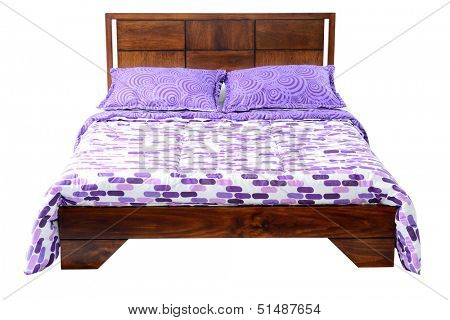 Bed against white background.