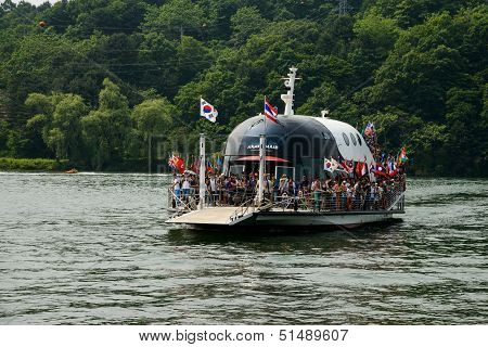The ferry in Nami island, South Korea