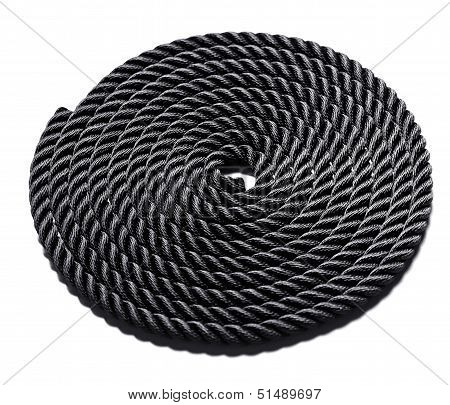 Coiled Black Rope