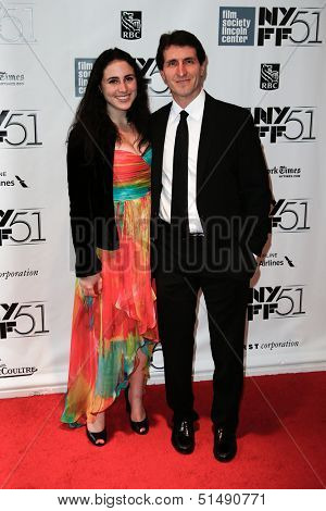 NEW YORK-SEP 27: Screenwriter Billy Ray and wife attend the premiere of