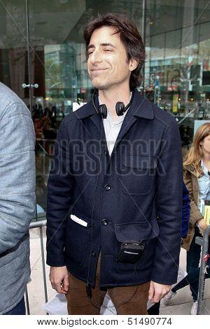 NEW YORK-SEP 27: Director Noah Baumbach while filming