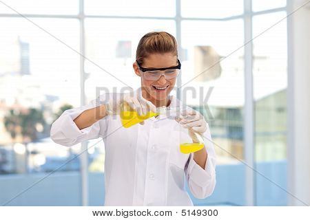 Scientist Working With A Test-tube