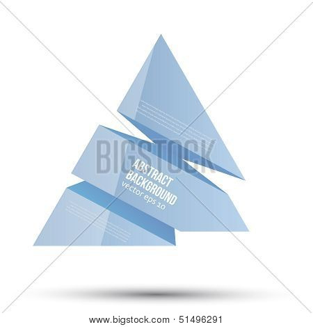 Vector abstract background. Blue space for