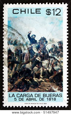 Postage Stamp Chile 1980 Death Of Colonel Santiago Bueras