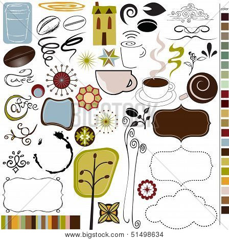 Coffee and cafe graphics and icons