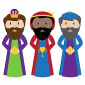 foto of magi  - Vector Collection of the Three Wise Men or Magi - JPG