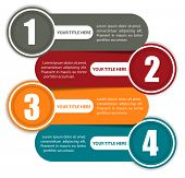 picture of four  - Simple vector background color scheme with four steps and place for text - JPG