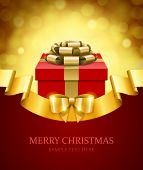 picture of sparking  - Gift box and light christmas vector background - JPG
