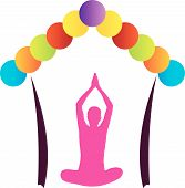 picture of surya  - Logo for yoga or fitness center - JPG