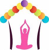 image of namaskar  - Logo for yoga or fitness center - JPG