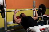 Photo of bodybuilder training.