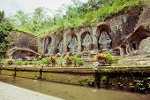 stock photo of gunung  - Gunung kawi temple in Bali island - JPG