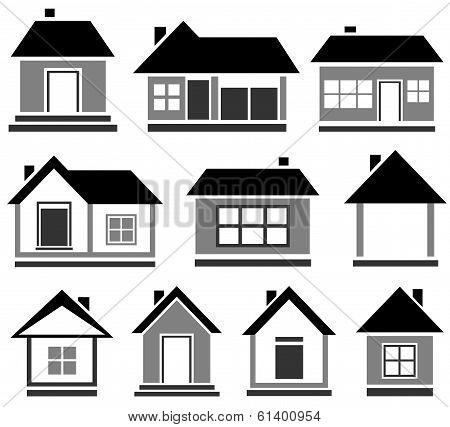 isolated cottage set