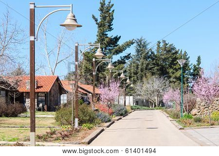 Guesthouses In The Countryside At Springtime