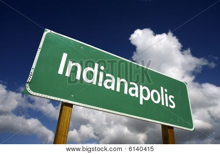 Indianapolis Green Road Sign