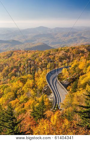 Blue Ridge Parkway in Autumn at Sunrise